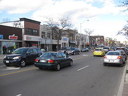 Looking east on Bloor Street