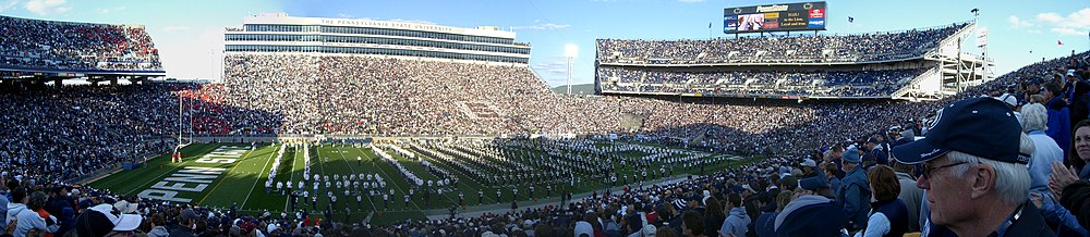Beaver Stadium, home of the Penn State Nittany Lions football team