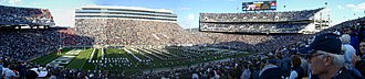 Penn State Nittany Lions - Panorama of 7th largest crowd in school history, 13 October 2007