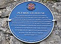 Blue Plaque, Plymouth House - Llantwit Major - geograph.org.uk - 1514142.jpg