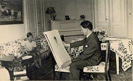 Božidar Jakac portraits Peter II of Yugoslavia in 1934 at Bled.jpg
