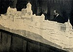 Bodo Ebhardt arbeitet am Modell der Hohkönigsburg, c. 1904.jpg