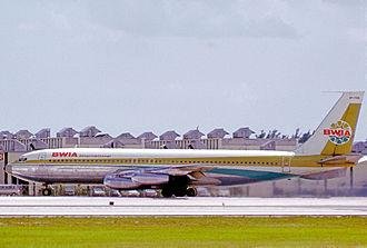 BWIA West Indies Airways - BWIA International Boeing 707-227 at Miami in 1972