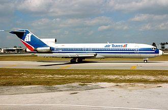 Air Transat - Air Transat Boeing 727-233-Adv in 1993 livery
