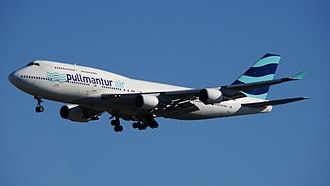Wamos Air - Pullmantur Air Boeing 747-400 in the 2013 livery