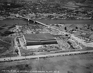 Boeing Plant 2 - Aerial photo of Boeing Plant 2 taken some time in 1940
