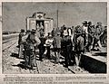 Boer War; arrival of a Boer Red Cross train with the wounded Wellcome V0015542.jpg