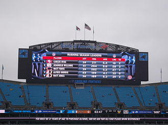 Bank of America Stadium - One of the video boards installed in 2014.