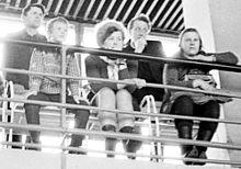 На соревнованиях по гимнастике, 1970 год