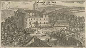 Bogenšperk Castle - Bogenšperk Castle on a Valvasor's engraving from 1679