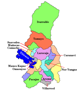 Provinces of the La Paz Department