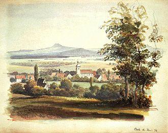 Bad Boll - Boll, watercolor painting of General Eduard von Kallee, 16 June 1876