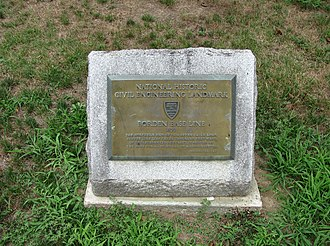 Simeon Borden - Borden Base Line plaque, South Deerfield, Massachusetts