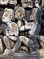 Borobudur - Divyavadana - 082 N, The Sky rains down Jewels (detail 4) (11706076123).jpg