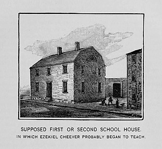 History of New England - First Boston Latin School house