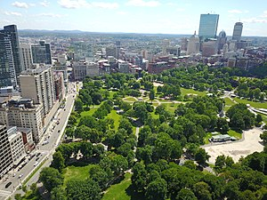 Boston Common - Boston Common aerial view