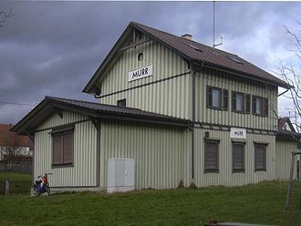 Murr, Baden-Württemberg - Disused railway station in Murr, Germany