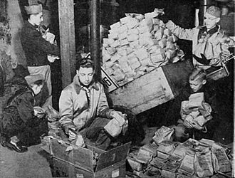D-CON - Boy Scouts gather and prepare to distribute packets of d-CON in Middleton, Wisconsin as part of a promotional experiment to demonstrate the effectiveness of the product.