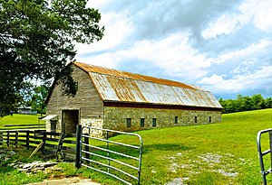 Meigs County, Tennessee - The 1930s-era Bradford Rymer Barn in Georgetown