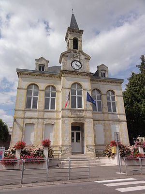 Brancourt-le-Grand - The town hall of Brancourt-le-Grand