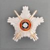 Breast star with swords for the 1st class of the Cross of Liberty with swords (military person, also wartime merits).png