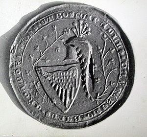Ban (title) - The Seal of Paul I Šubić of Bribir, ban of Croatia (1275–1312).