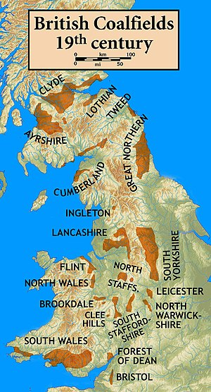 South Wales Coalfield - Map of British coalfields