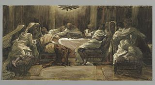 La Céne. Judas met la main dans le plat