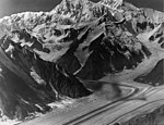 Buckskin Glacier, junction of valley glaciers, hanging glacier, bergschrund and icefall on the upper portions of the mountain (GLACIERS 7164).jpg