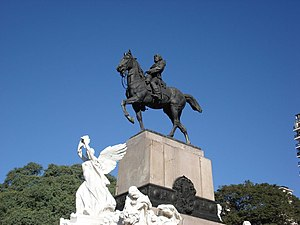 Greek Argentines - Equestrian statue of Bartolomé Mitre, Buenos Aires