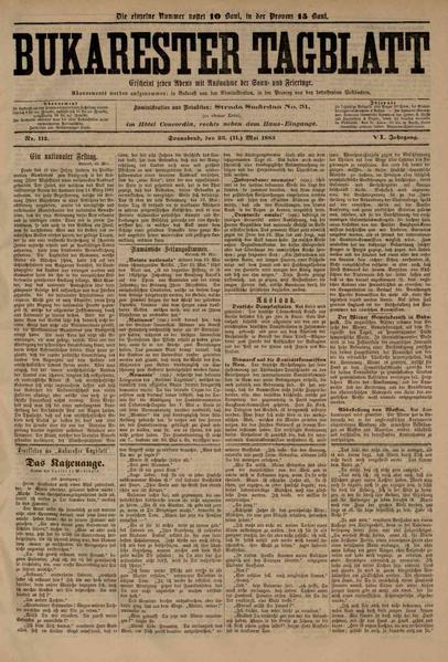 File:Bukarester Tagblatt 1885-05-23, nr. 112.pdf