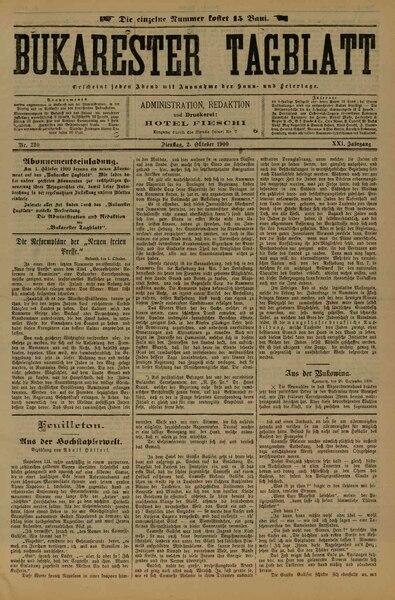 File:Bukarester Tagblatt 1900-10-02, nr. 220.pdf