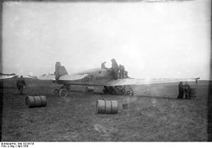 "Bremen (aircraft) - The ""Bremen"" in Baldonnel getting ready for take-off"