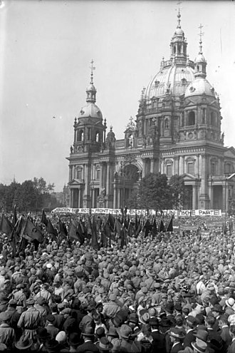 Anti-fascism - 1928 Roter Frontkämpferbund rally in Berlin. Organized by the Communist Party of Germany the RFB had at its height over 100,000 members