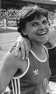 Dagmar Neubauer East German sprinter