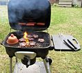 Burgers and hotdogs flaming on the bbq grill.jpg