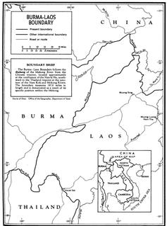 Laos–Myanmar border International border
