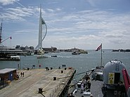 Busy scene at Portsmouth Harbour - geograph.org.uk - 177777