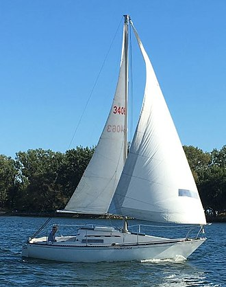 C&C 25 - Image: C&C 25 Mk I sailboat Thaumaturge cropped