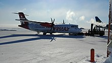 C-FTIQ First Air ATR42-500 at Cambridge Bay Airport.jpg