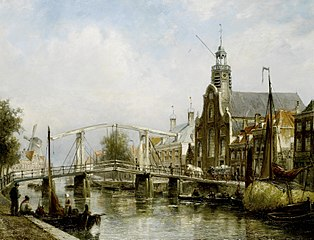 View of the Old or Pelgrimsvaderschurch Rotterdam