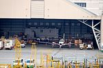 CAA MOTC Beechcraft Super King B350iER B-00101 and d Roc Aviation Britten Norman BN-2B-20 Islander B-68802 in Hamgar of Taipei Songsham Airport 20151107.jpg
