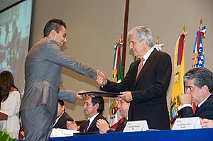 Monterrey Institute of Technology and Higher Education, Mexico City - Graduate receiving diploma