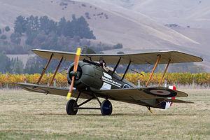 Airco DH.5 - Replica DH.5 ZK-JOQ at the Classic Fighters 2015 airshow in Blenheim, New Zealand