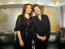 Argentina-Politica estera-CFK y Rousseff Caracas 2011-12-02