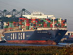 CMA CGM Laperouse (ship, 2010), Deurganckdok, Port of Antwerp, Belgium, pic3.JPG