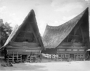 Batak architecture - Toba Batak houses near Lake Toba