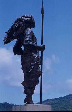 Martha Christina Tiahahu - The statue to Tiahahu in Ambon