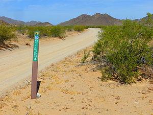 El Camino del Diablo - El Camino del Diablo in Cabeza Prieta National Wildlife Refuge