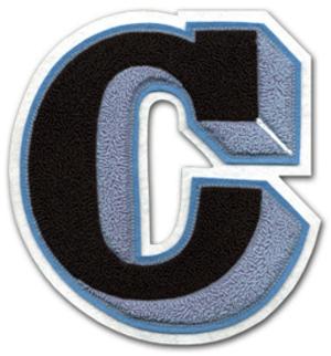 Varsity letter - Image: C w 3D Shading